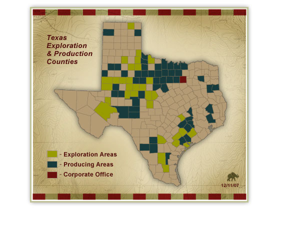 Texas Exploration & Production Counties